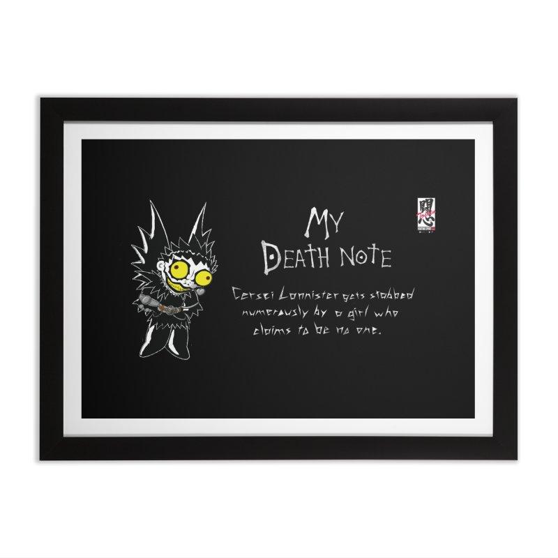 Deathnote for Cerci Home Framed Fine Art Print by Zheph Skyre