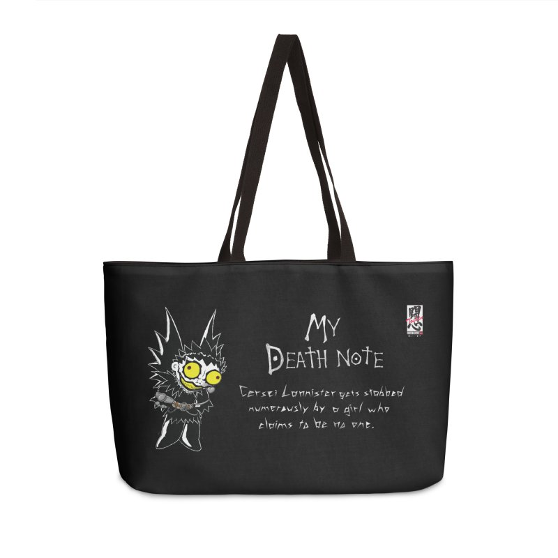 Deathnote for Cerci Accessories Weekender Bag Bag by Zheph Skyre