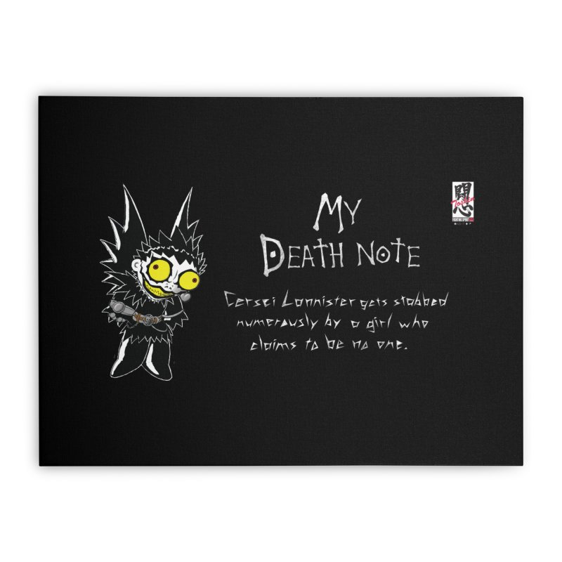 Deathnote for Cerci Home Stretched Canvas by Zheph Skyre