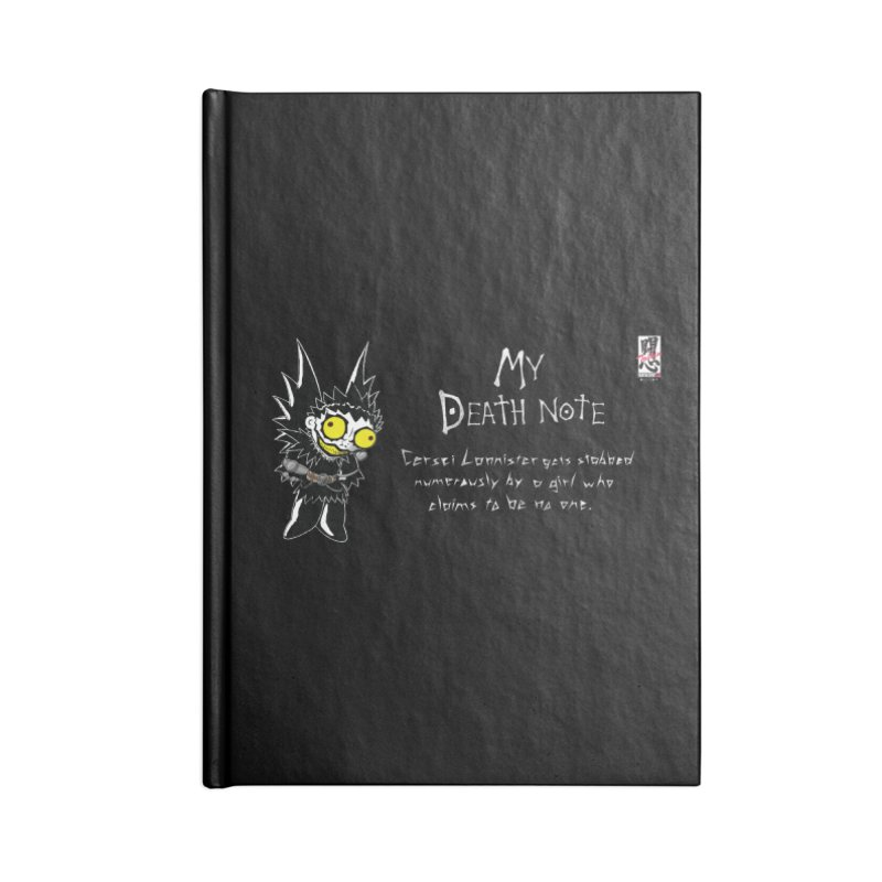 Deathnote for Cerci Accessories Lined Journal Notebook by Zheph Skyre