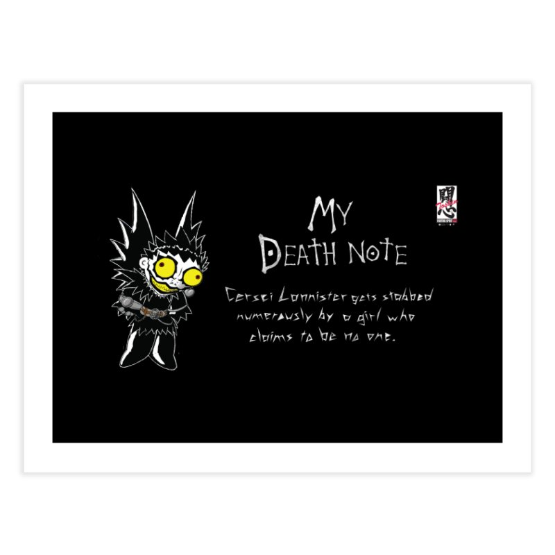 Deathnote for Cerci Home Fine Art Print by Zheph Skyre
