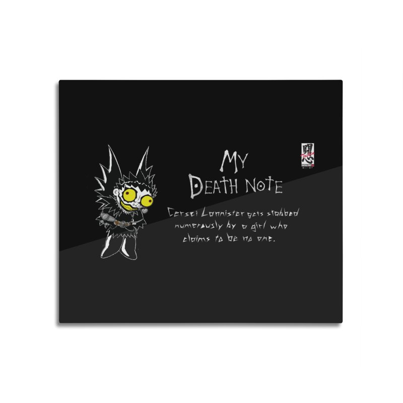 Deathnote for Cerci Home Mounted Aluminum Print by Zheph Skyre