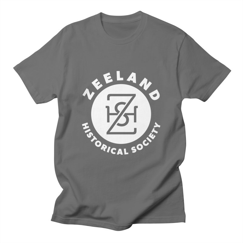 Zeeland Circle Monogram (solid) Men's T-Shirt by Zeeland Historical Society's Online Store