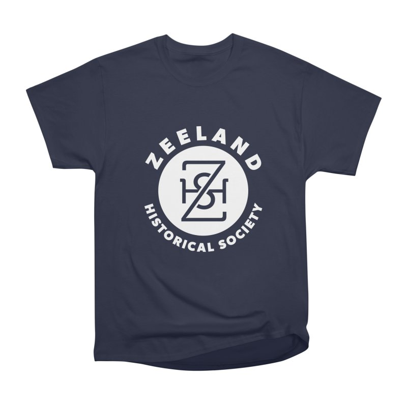 Zeeland Circle Monogram (solid) Women's Heavyweight Unisex T-Shirt by Zeeland Historical Society's Online Store