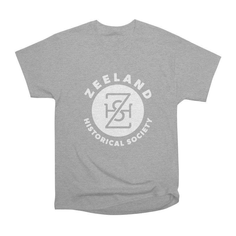 Zeeland Circle Monogram (solid) Men's Heavyweight T-Shirt by Zeeland Historical Society's Online Store