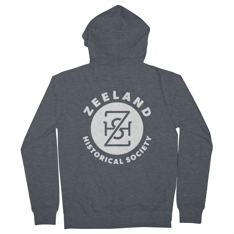 Zeeland Circle Monogram (solid) Women's French Terry Zip-Up Hoody by Zeeland Historical Society's Online Store