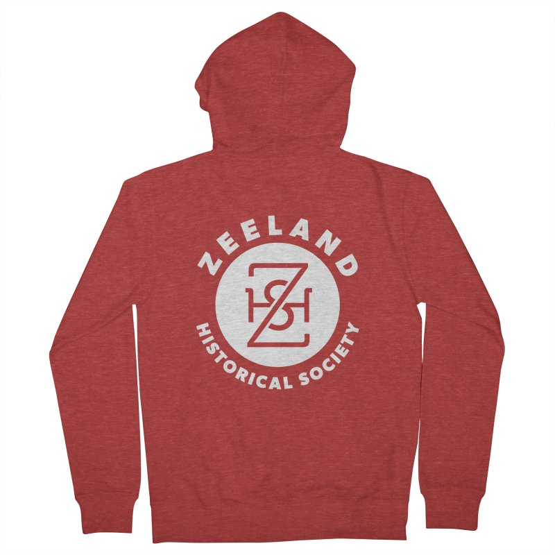 Zeeland Circle Monogram (solid) Men's French Terry Zip-Up Hoody by Zeeland Historical Society's Online Store