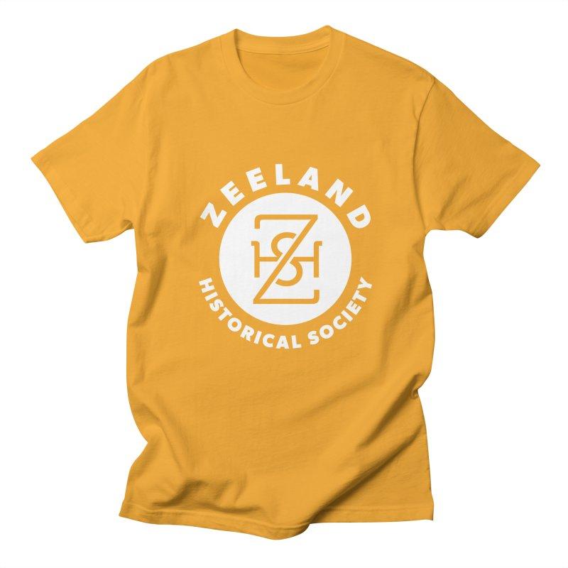 Zeeland Circle Monogram (solid) Men's Regular T-Shirt by Zeeland Historical Society's Online Store
