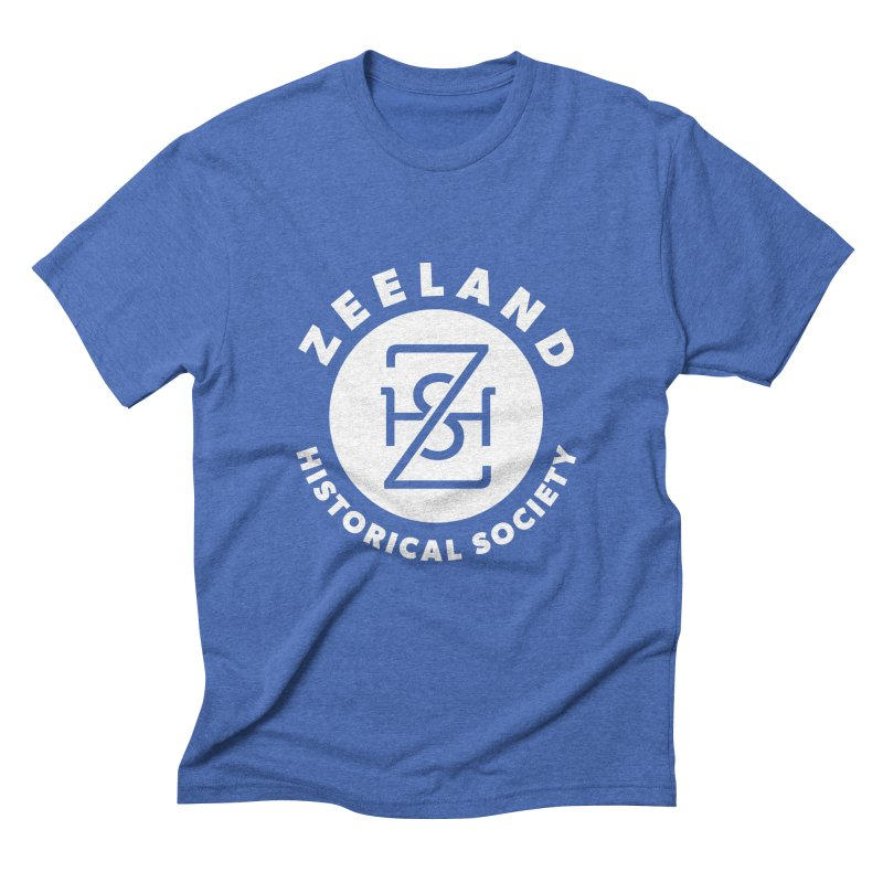 Zeeland Circle Monogram (solid) Men's Triblend T-Shirt by Zeeland Historical Society's Online Store