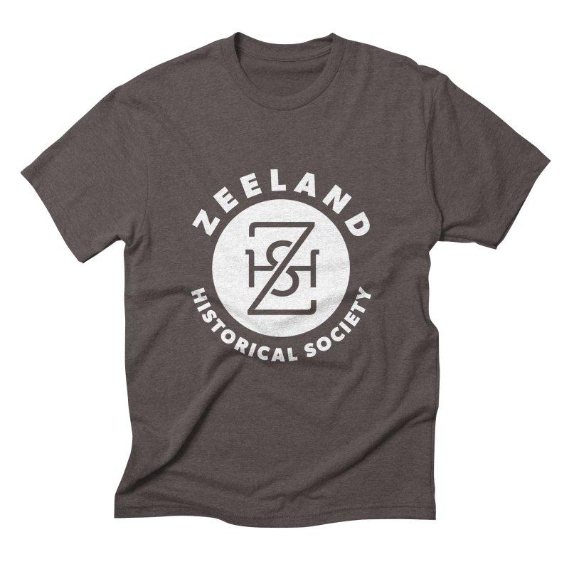 Zeeland Circle Monogram (solid) Men's Triblend T-Shirt by Zeeland Historical Society's Online Store