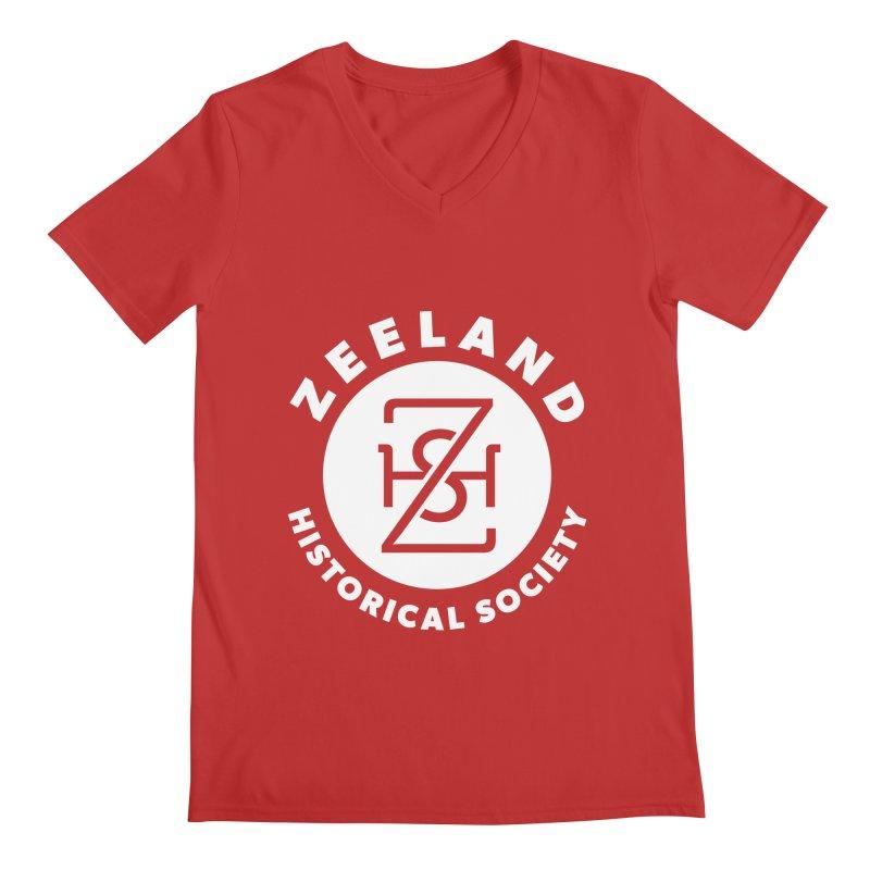Zeeland Circle Monogram (solid) Men's Regular V-Neck by Zeeland Historical Society's Online Store