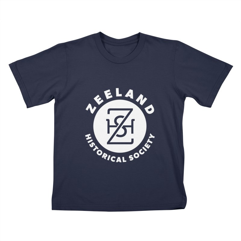 Zeeland Circle Monogram (solid) Kids T-Shirt by Zeeland Historical Society's Online Store