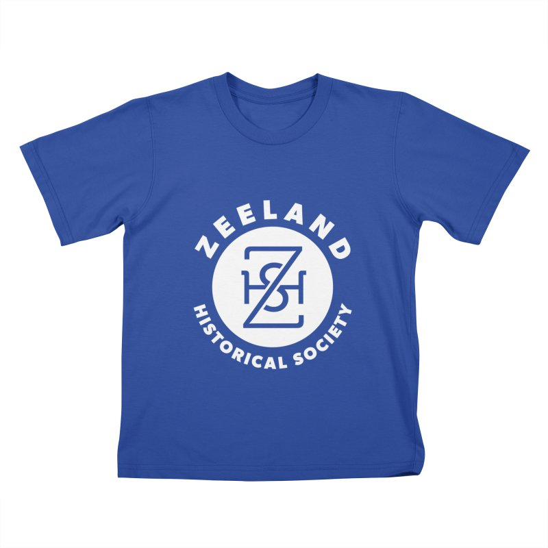 Zeeland Circle Monogram (solid) Kids T-Shirt by Zeeland Historical Society's Online Store