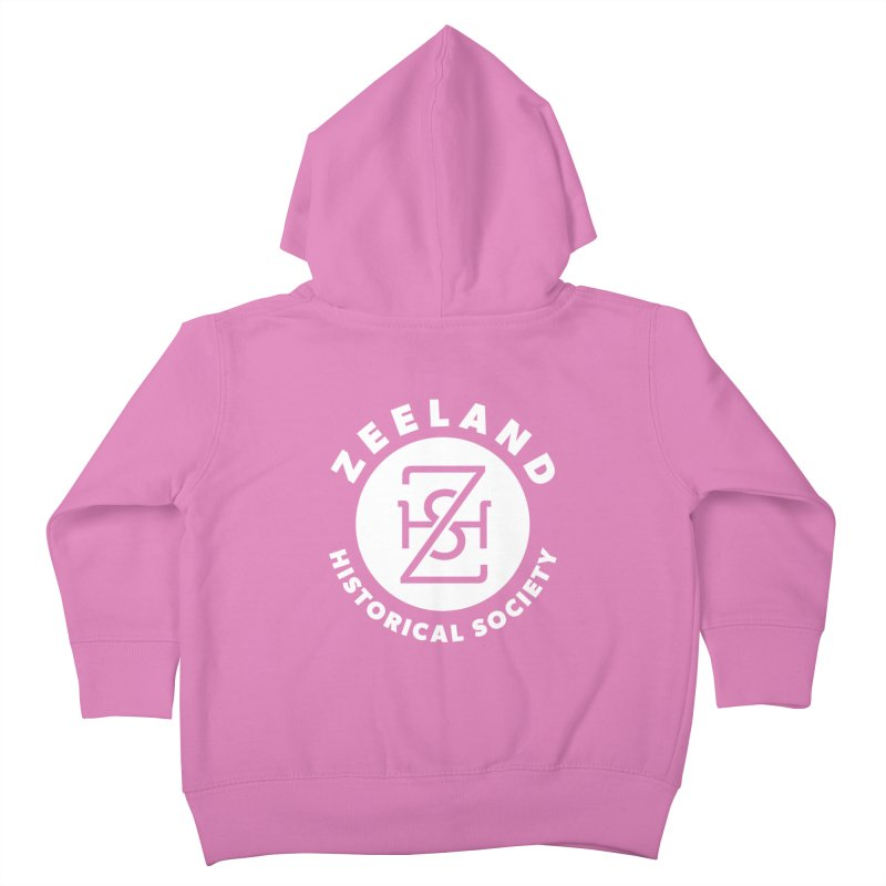 Zeeland Circle Monogram (solid) Kids Toddler Zip-Up Hoody by Zeeland Historical Society's Online Store