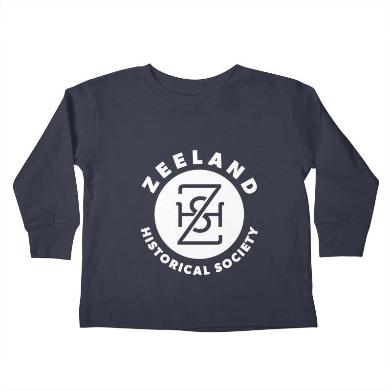 Zeeland Circle Monogram (solid) Kids Toddler Longsleeve T-Shirt by Zeeland Historical Society's Online Store
