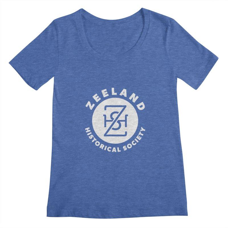 Zeeland Circle Monogram (solid) Women's Regular Scoop Neck by Zeeland Historical Society's Online Store