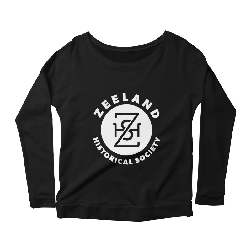Zeeland Circle Monogram (solid) Women's Scoop Neck Longsleeve T-Shirt by Zeeland Historical Society's Online Store