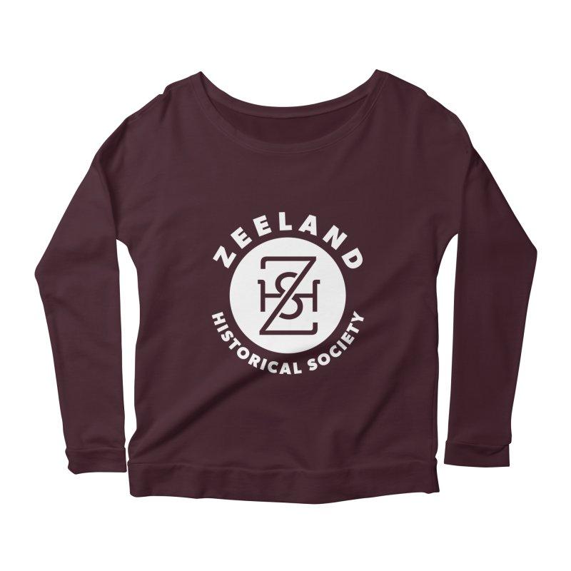 Zeeland Circle Monogram (solid) Women's Scoop Neck Longsleeve T-Shirt by Zeeland Historical Society's Online Store