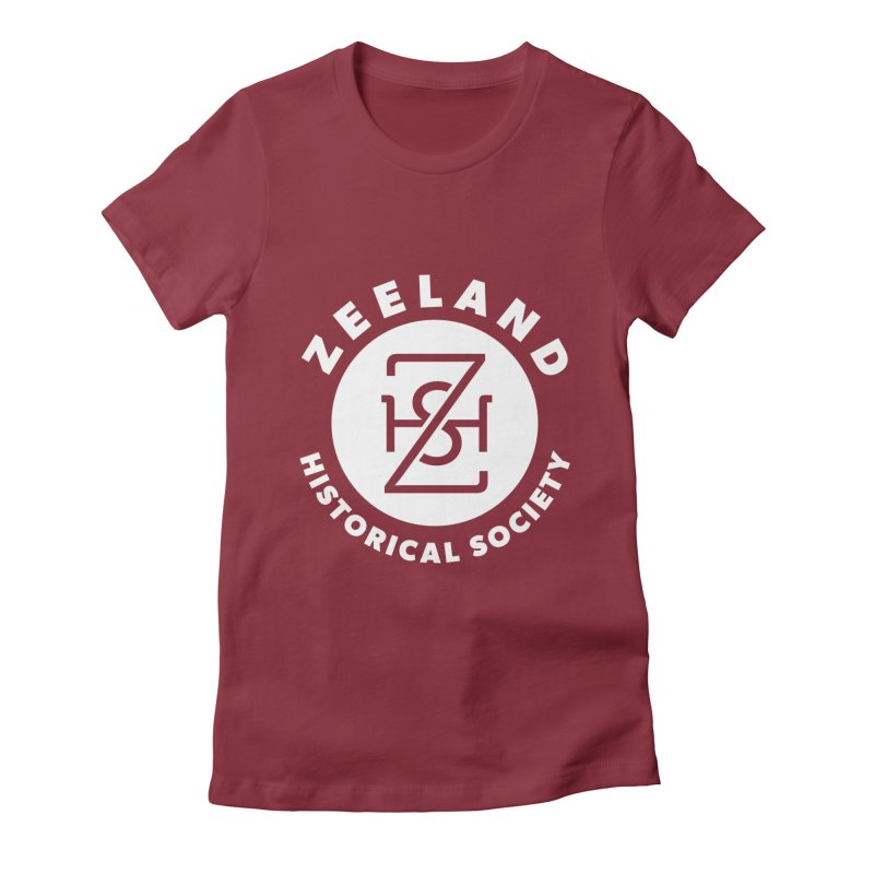 Zeeland Circle Monogram (solid) Women's Fitted T-Shirt by Zeeland Historical Society's Online Store