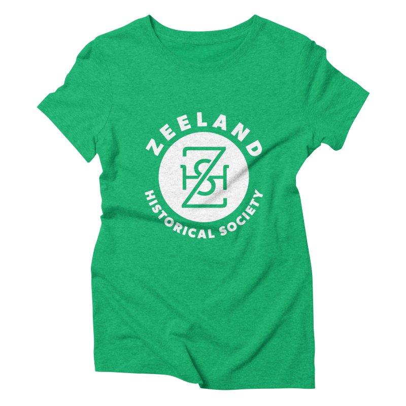 Zeeland Circle Monogram (solid) Women's Triblend T-Shirt by Zeeland Historical Society's Online Store