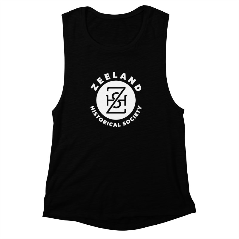 Zeeland Circle Monogram (solid) Women's Muscle Tank by Zeeland Historical Society's Online Store