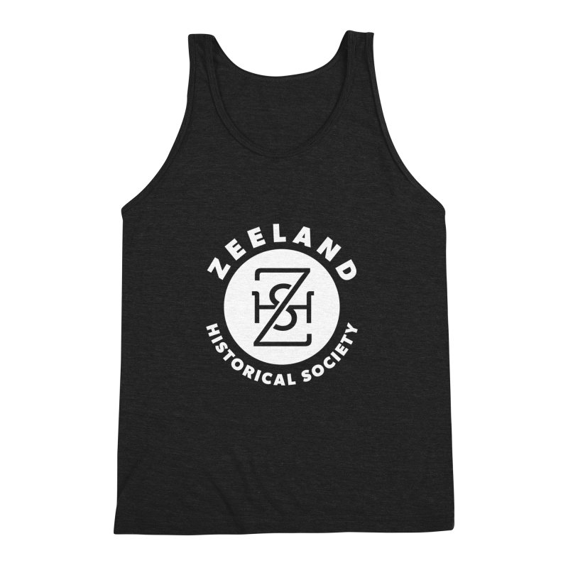 Zeeland Circle Monogram (solid) Men's Triblend Tank by Zeeland Historical Society's Online Store