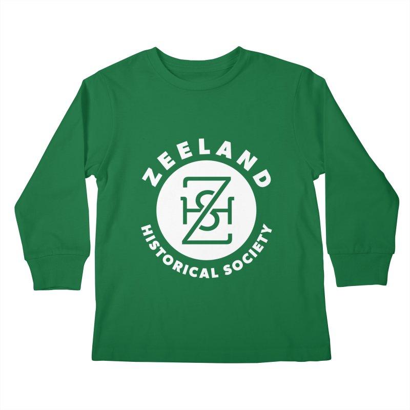 Zeeland Circle Monogram (solid) Kids Longsleeve T-Shirt by Zeeland Historical Society's Online Store