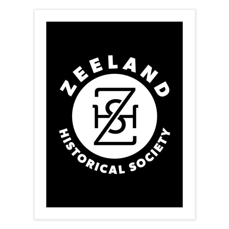Zeeland Circle Monogram (solid) Home Fine Art Print by Zeeland Historical Society's Online Store