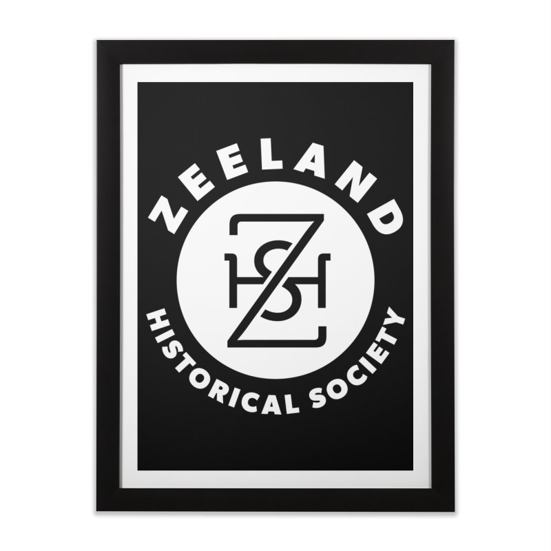 Zeeland Circle Monogram (solid) Home Framed Fine Art Print by Zeeland Historical Society's Online Store