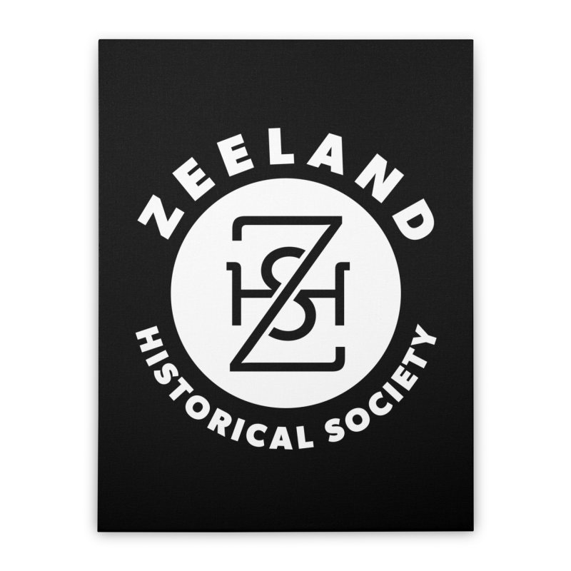 Zeeland Circle Monogram (solid) Home Stretched Canvas by Zeeland Historical Society's Online Store
