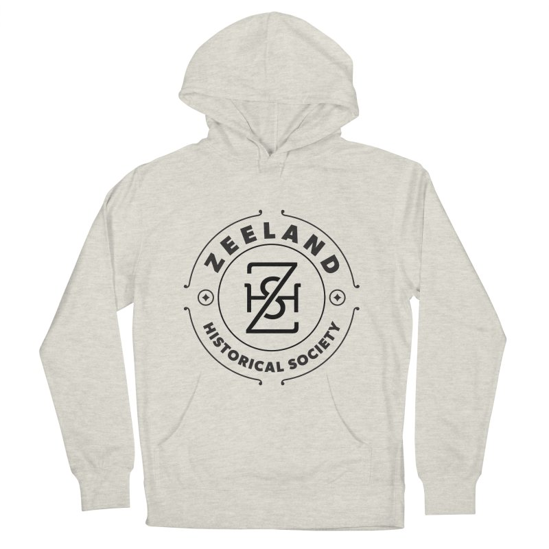 ZHS Circle Monogram Men's French Terry Pullover Hoody by Zeeland Historical Society's Online Store