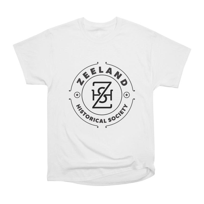 ZHS Circle Monogram Women's Heavyweight Unisex T-Shirt by Zeeland Historical Society's Online Store
