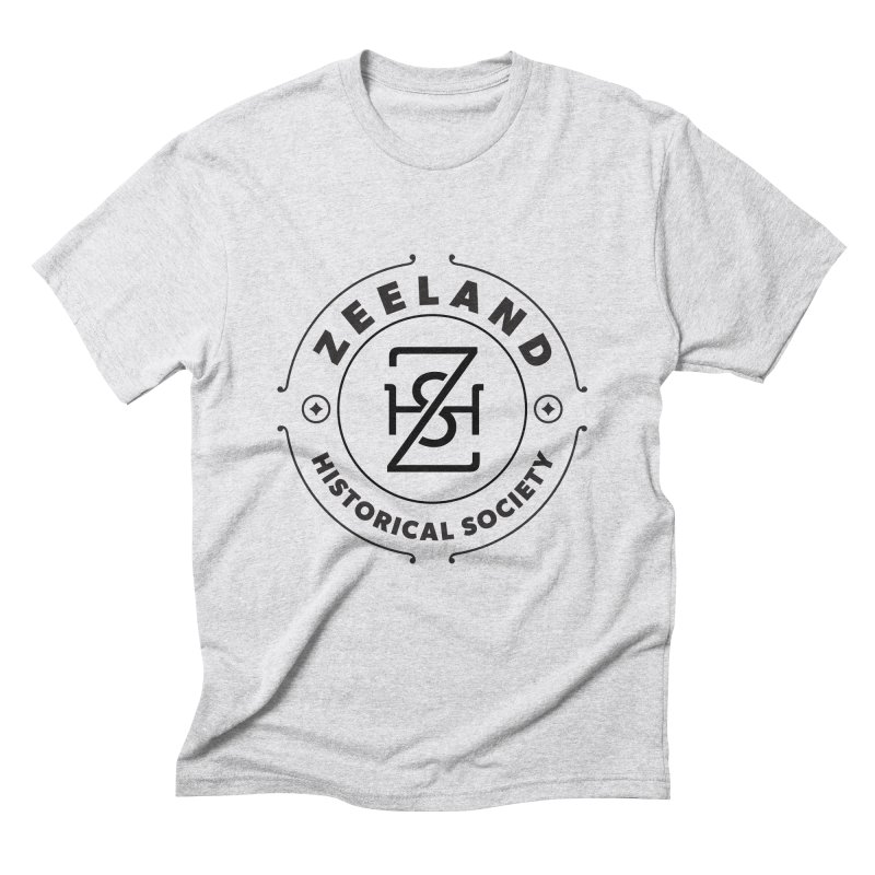 ZHS Circle Monogram Men's Triblend T-Shirt by Zeeland Historical Society's Online Store