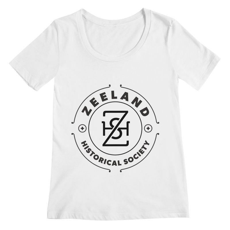 ZHS Circle Monogram Women's Regular Scoop Neck by Zeeland Historical Society's Online Store