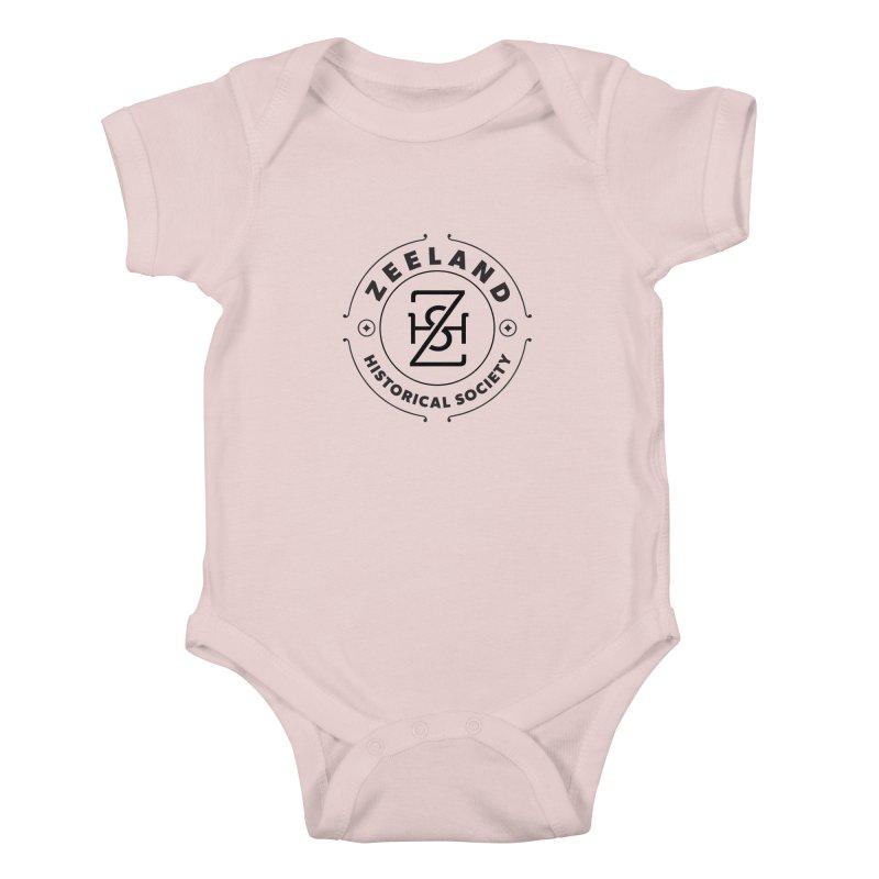 ZHS Circle Monogram Kids Baby Bodysuit by Zeeland Historical Society's Online Store