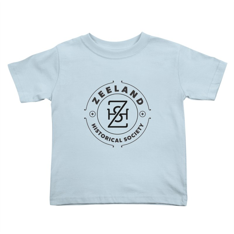 ZHS Circle Monogram Kids Toddler T-Shirt by Zeeland Historical Society's Online Store