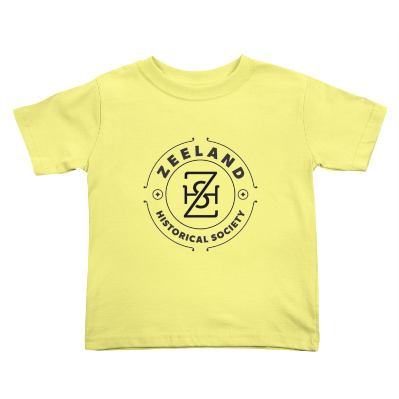 ZHS Circle Monogram Kids Toddler T-Shirt by Zeeland Historical Society's Online Store