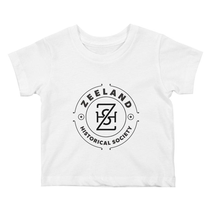 ZHS Circle Monogram Kids Baby T-Shirt by Zeeland Historical Society's Online Store