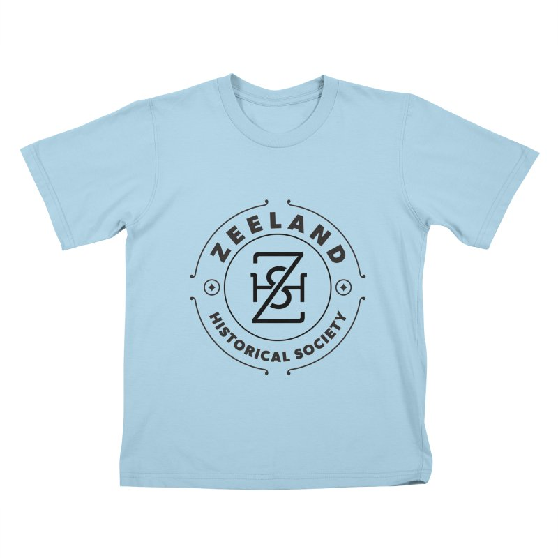 ZHS Circle Monogram Kids T-Shirt by Zeeland Historical Society's Online Store