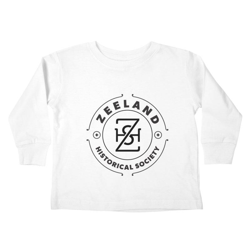 ZHS Circle Monogram Kids Toddler Longsleeve T-Shirt by Zeeland Historical Society's Online Store
