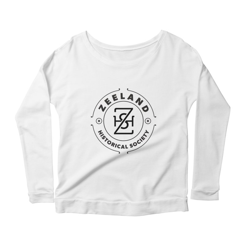 ZHS Circle Monogram Women's Scoop Neck Longsleeve T-Shirt by Zeeland Historical Society's Online Store