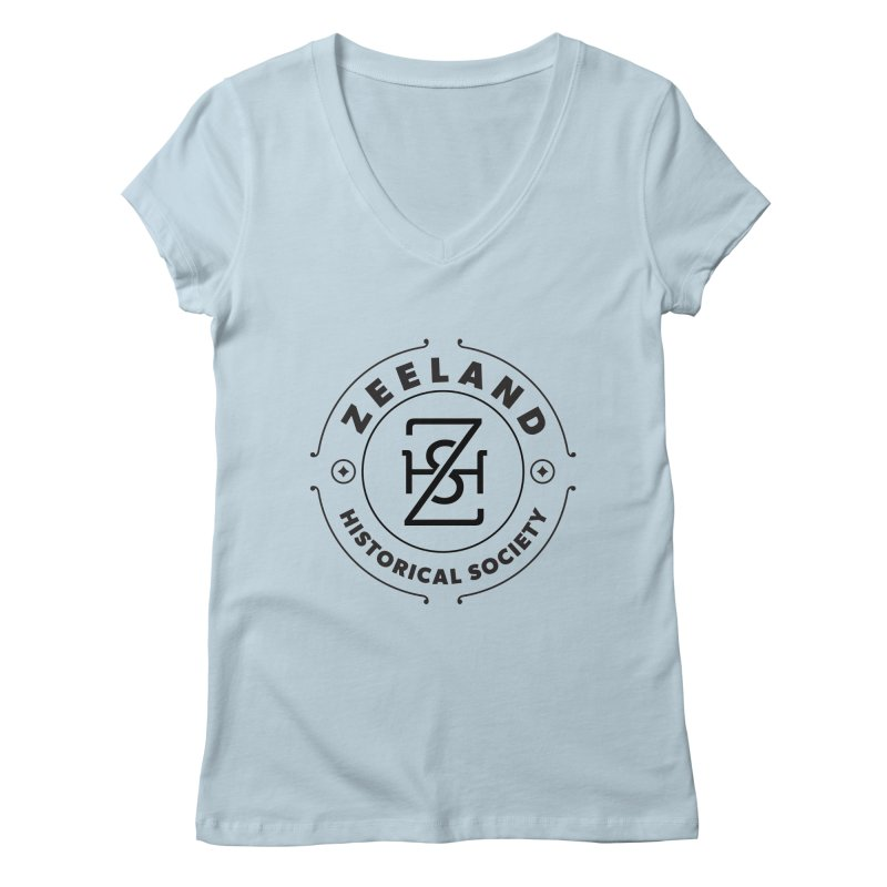 ZHS Circle Monogram Women's Regular V-Neck by Zeeland Historical Society's Online Store