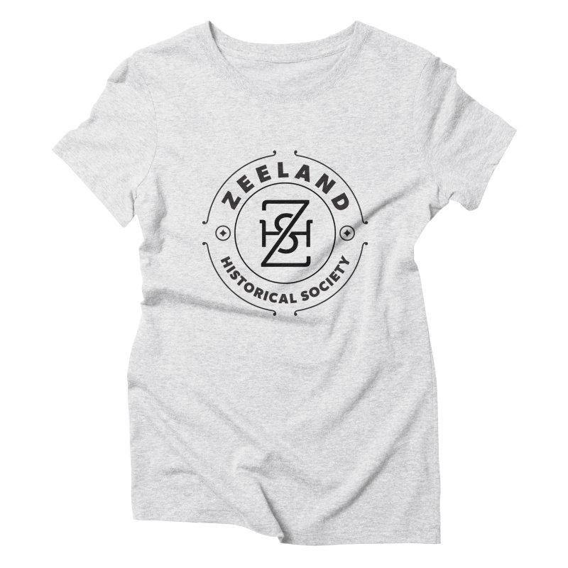 ZHS Circle Monogram Women's Triblend T-Shirt by Zeeland Historical Society's Online Store
