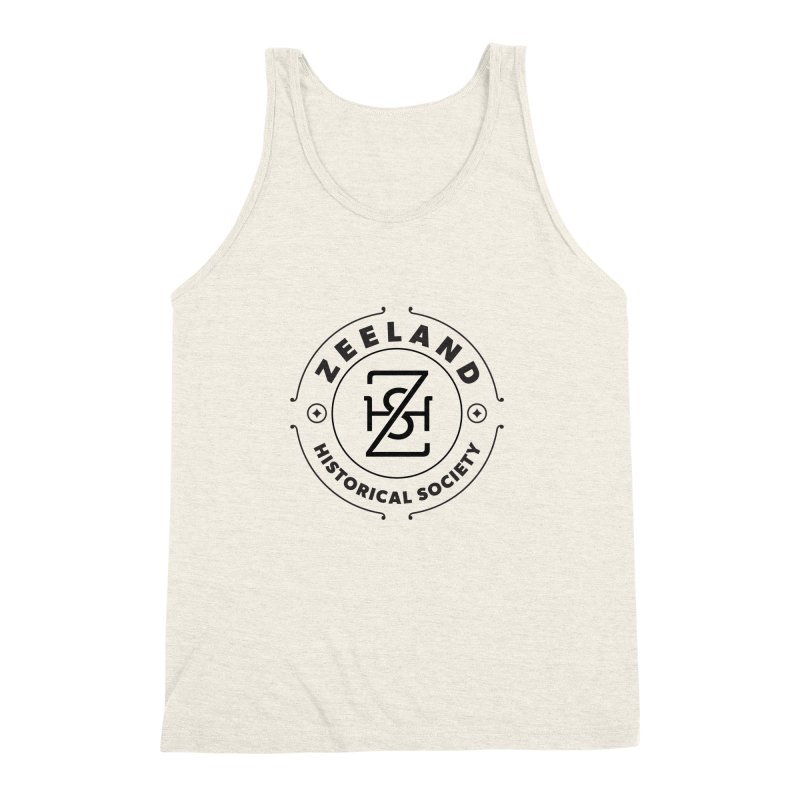 ZHS Circle Monogram Men's Triblend Tank by Zeeland Historical Society's Online Store