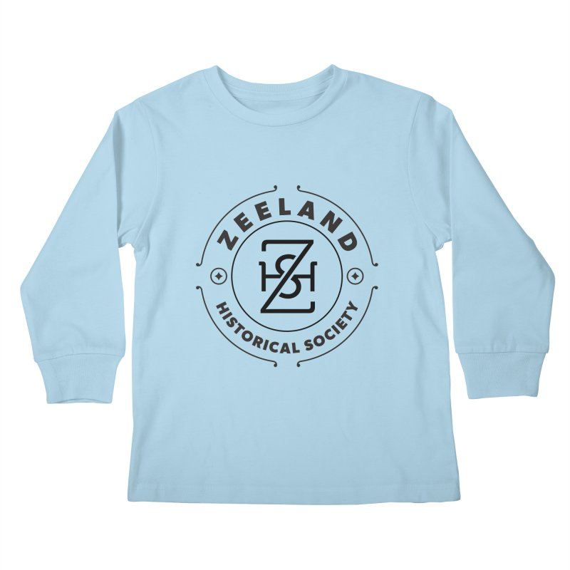 ZHS Circle Monogram Kids Longsleeve T-Shirt by Zeeland Historical Society's Online Store
