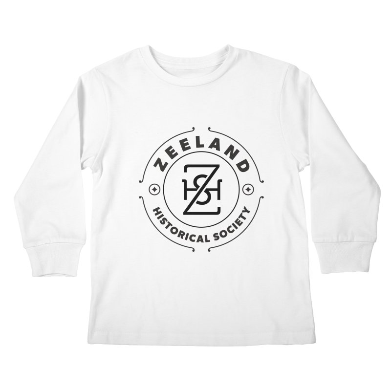 ZHS Circle Monogram Kids Longsleeve T-Shirt by Zeeland Historical Society's Online Store
