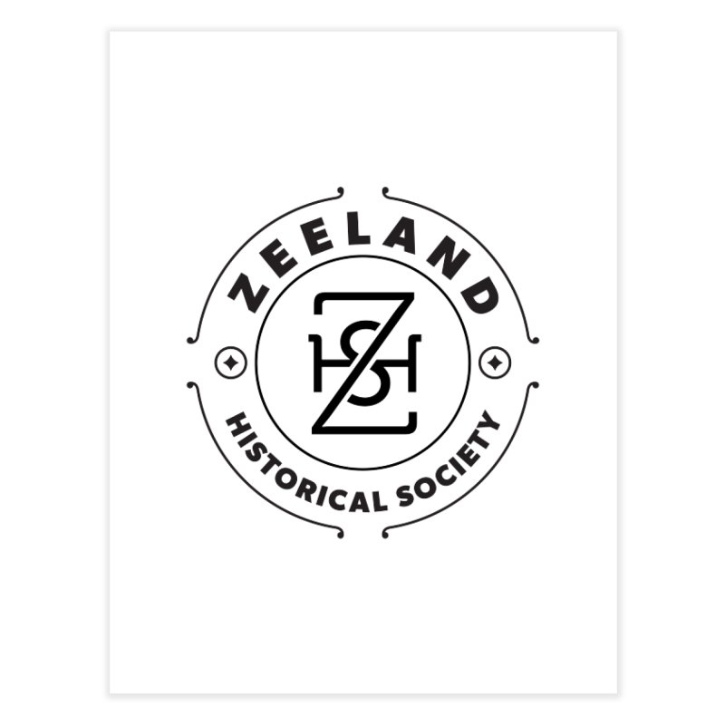 ZHS Circle Monogram Home Fine Art Print by Zeeland Historical Society's Online Store