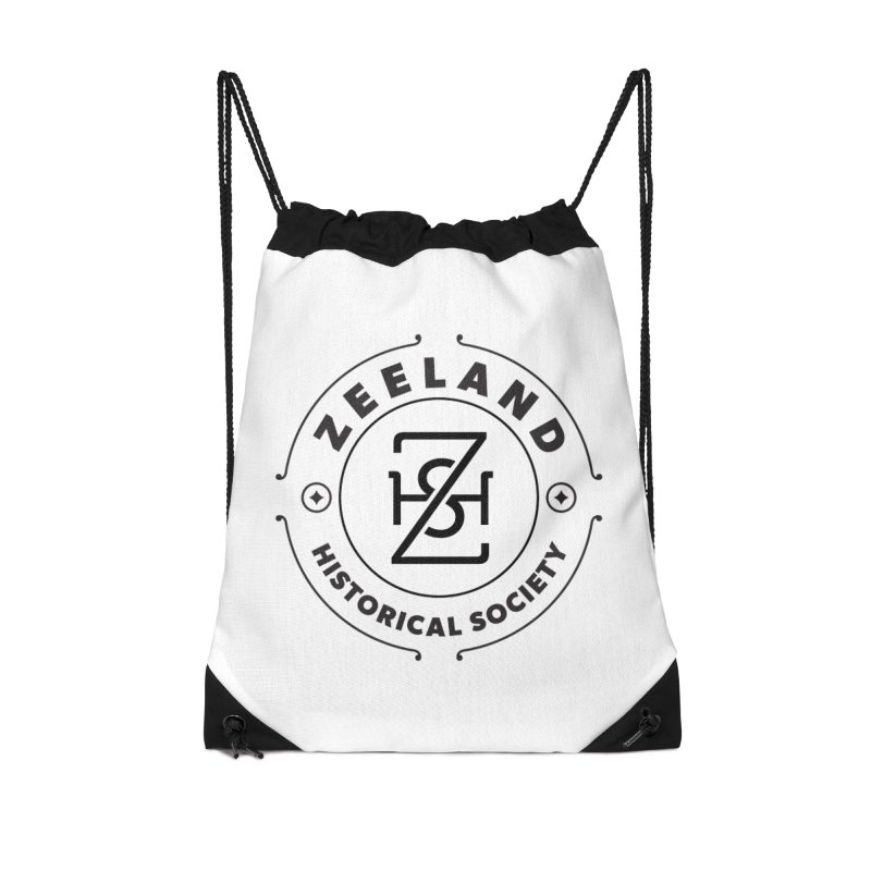 ZHS Circle Monogram Accessories Drawstring Bag Bag by Zeeland Historical Society's Online Store