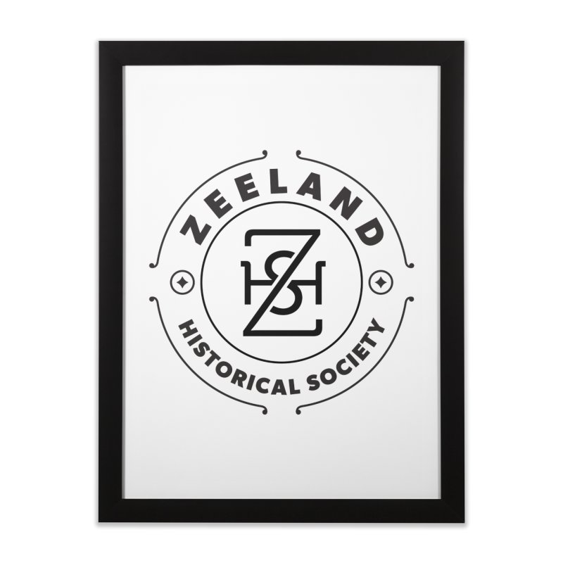 ZHS Circle Monogram Home Framed Fine Art Print by Zeeland Historical Society's Online Store