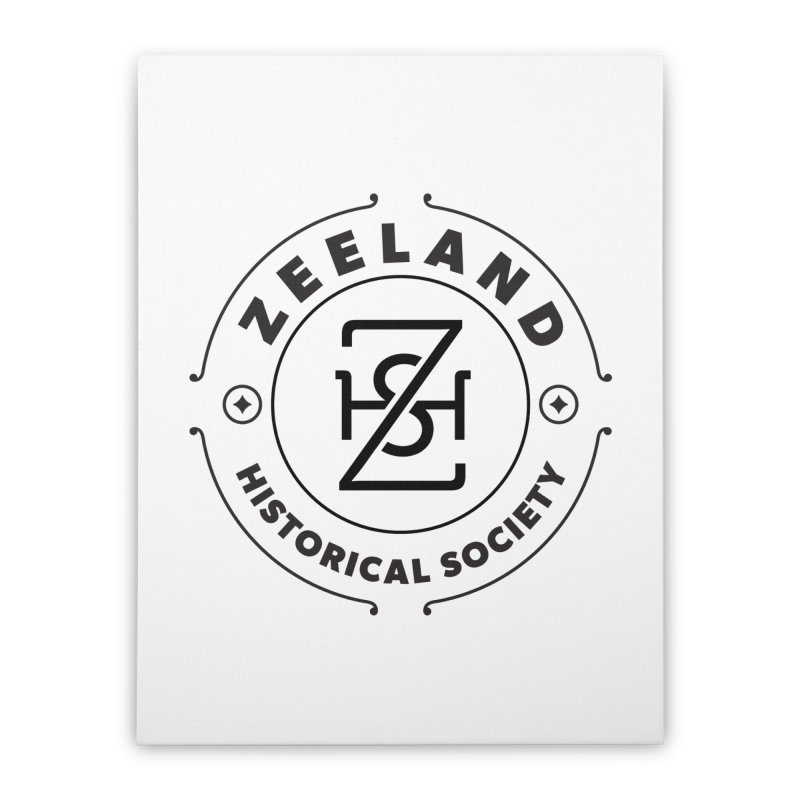 ZHS Circle Monogram Home Stretched Canvas by Zeeland Historical Society's Online Store